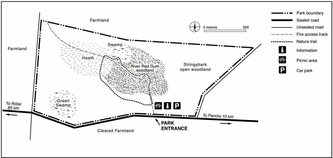 Penola Conservation Park Map 1
