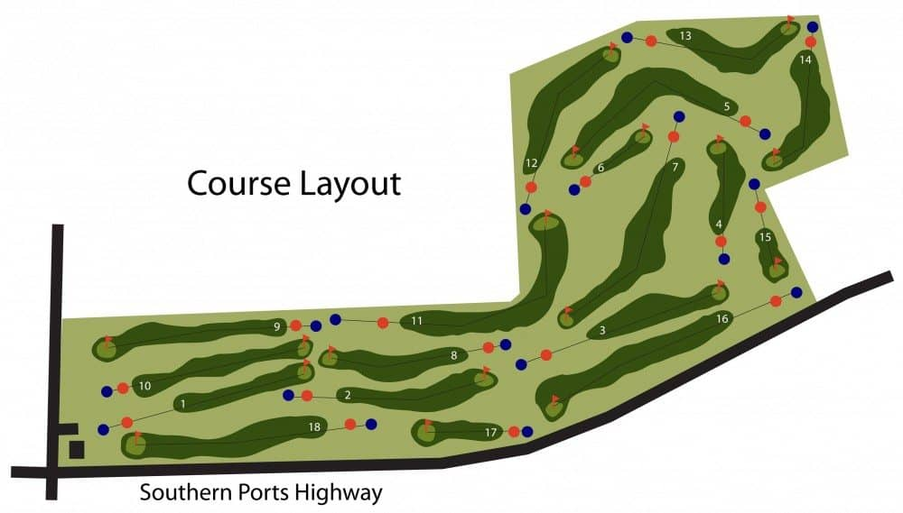 Kingston SE Golf Club Course Layout