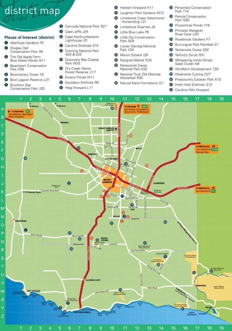 Mount Gambier District Map