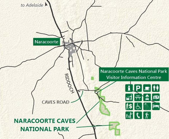 Naracoorte Caves Map 1