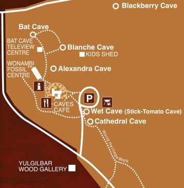 Naracoorte Caves Map 2