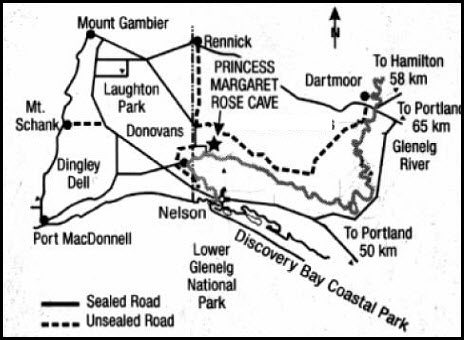 Princess Margaret Rose Cave map